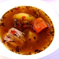 Овощной суп с телятиной