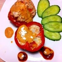 Фаршированные овощи с курицей