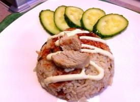 Рис с индейкой