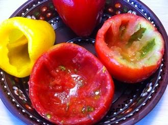 Фаршированные овощи в мультиварке