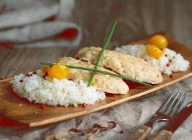 Рис с куриными котлетами на пару