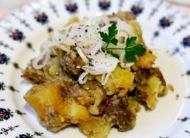 Тушеная говядина с картофелем