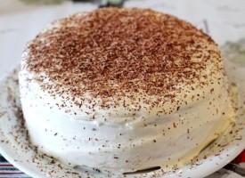 Бисквитный торт «Белый принц»