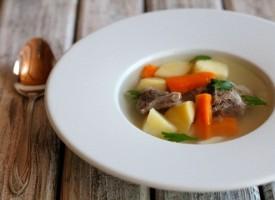 Легкий суп из баранины