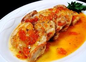 Курица в абрикосовом соусе