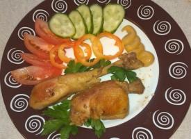 Жареная курица с горчицей