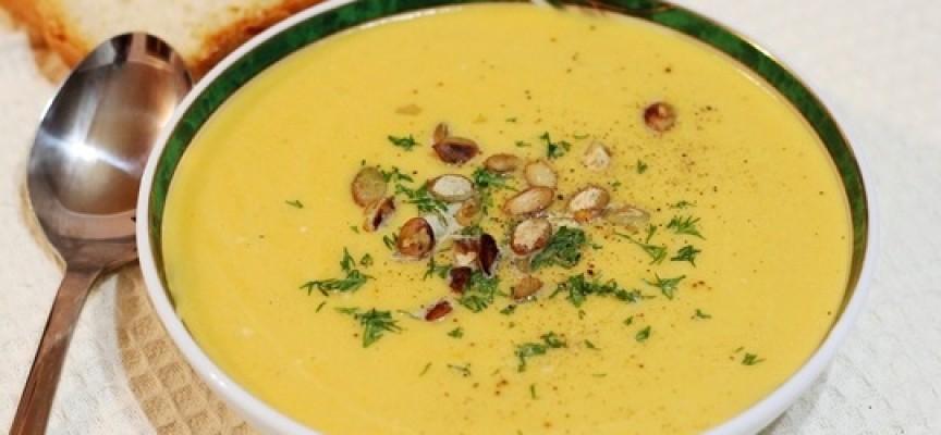 Тыквенный крем суп со сливками