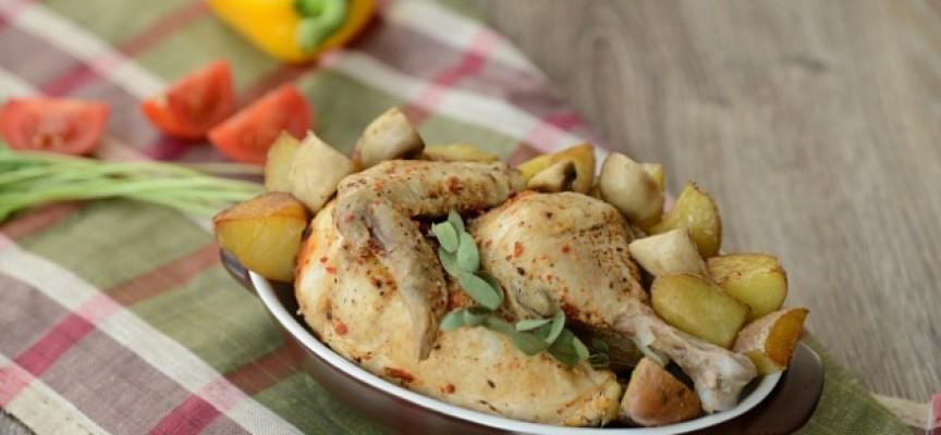Цыпленок запеченный в фольге