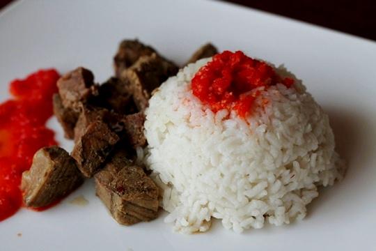 Мясо с рисом в мультиварке