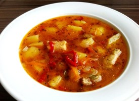Картофельный суп с телятиной
