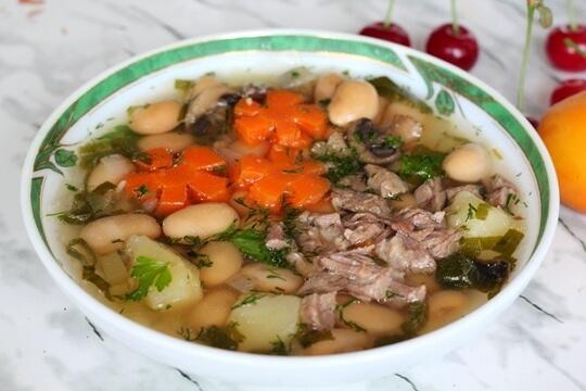 Суп из белой фасоли в мультиварке