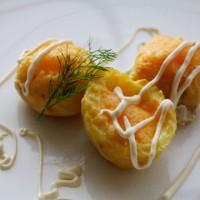 Запеченный картофель с перепелиными яйцами