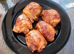 Курица в абрикосовом соусе в мультиварке