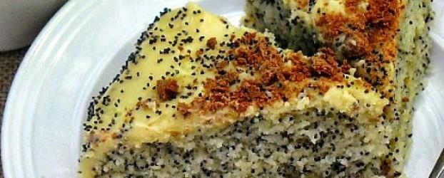 Маково кокосовый торт