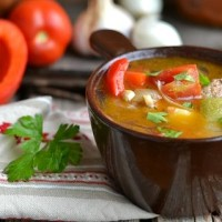 Суп рататуй с фрикадельками